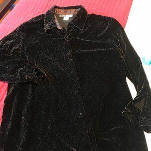Velvet burnout Carol Horn tunic